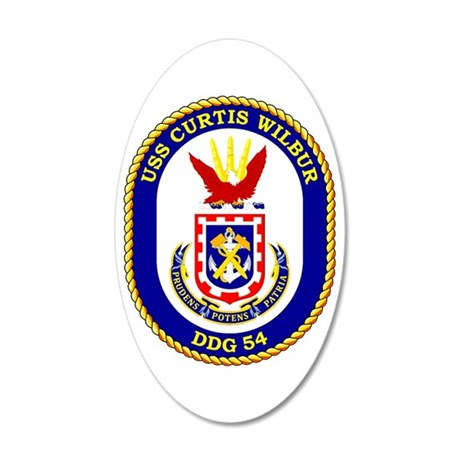 DDG-54 USS Curtis Wilbur 20x12 Oval Wall Decal