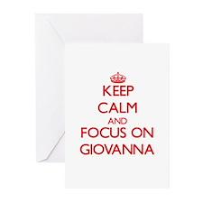 Keep Calm and focus on Giovanna Greeting Cards
