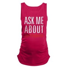 Cryptography - Ask Me About Maternity Tank Top