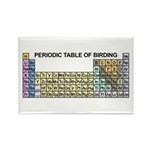 Periodic Table of Birding Rectangle Magnet