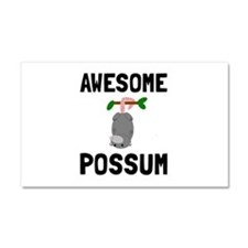 Awesome Possum Car Magnet 20 x 12