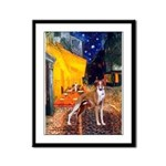 Cafe & Whippet Framed Panel Print