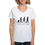 Evolution: Birder Women's V-Neck T-Shirt