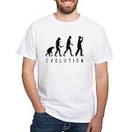 Evolution: Birder White T-Shirt