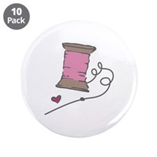 """Needle And Thread 3.5"""" Button (10 pack)"""