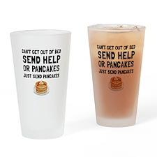 Send Pancakes Drinking Glass