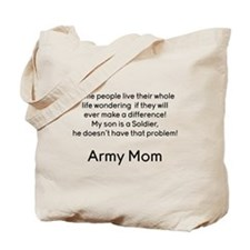 Army Mom No Problem Son Tote Bag
