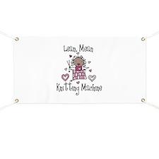 Knitting Machine Banner