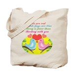 Birding With You Tote Bag