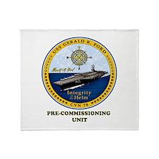 PCU 78 Gerald R. Ford Throw Blanket
