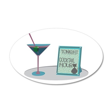 Tonight Cocktail Hour Wall Decal