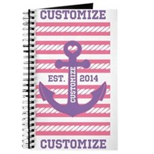 Customized Nautical Anchor and Rope Journal