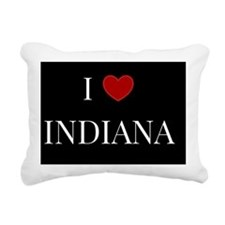 I Love Indiana Rectangular Canvas Pillow
