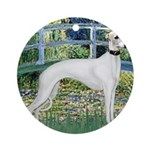 Bridge & Whippet Ornament (Round)