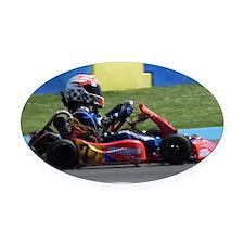 Kart Racer Oval Car Magnet