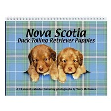 Toller Puppies Wall Calendar