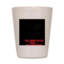Zombie Wedding Couple Shot Glass