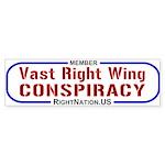 Bumper Sticker: Vast Right Wing Conspiracy