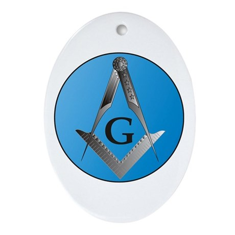 Masonic Design on an Oval Ornament