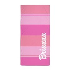 Bold Pink Stripes Beach Towel