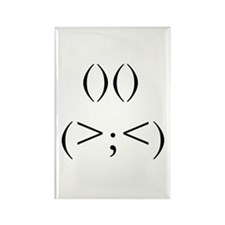 Angry Rabbit Rectangle Magnet