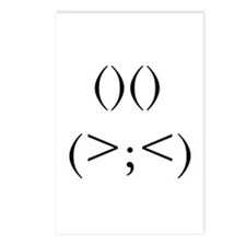 Angry Rabbit Postcards (Package of 8)