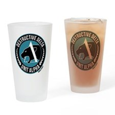 Destructive Delta logo Drinking Glass