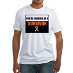 Leukemia Survivor Fitted T-Shirt