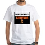 Leukemia Survivor White T-Shirt