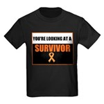Leukemia Survivor Kids Dark T-Shirt