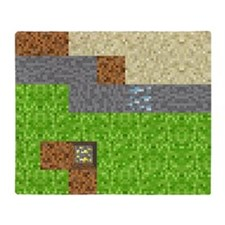 Pixel Art Play Mat Throw Blanket