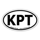 "Jackpot, Nevada ""KPT"" Oval Car Decal"