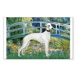 Bridge & Whippet Sticker (Rectangle)
