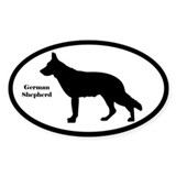 German Shepherd Silhouette Decal
