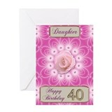 Birthday daughter 40 Stationery