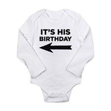 Cute Birthday boy 5th Long Sleeve Infant Bodysuit