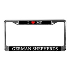 Love German Shepherds License Plate Frame