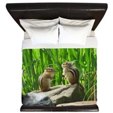 Two Chipmunks King Duvet