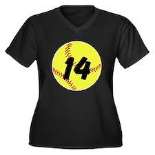 Custom Softball Plus Size T-Shirt
