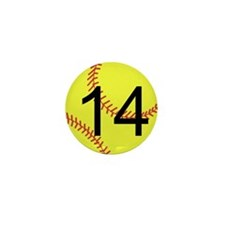 Custom Softball Mini Button (10 pack)