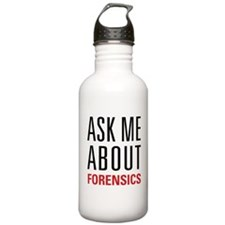 Forensics - Ask Me Abo Water Bottle