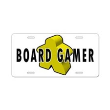 Board Gamer Yellow Aluminum License Plate