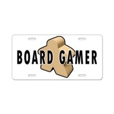 Board Game Meeple Unpainted Aluminum License Plate