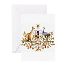 Autralia's Coat of Arms Greeting Cards (Package of