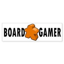 Board Game Meeple Orange Bumper Car Sticker