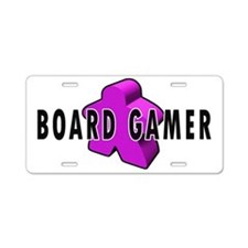 Board Game Meeple Purple Aluminum License Plate