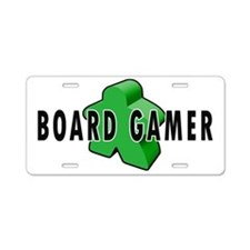 Board Gamer Green Aluminum License Plate