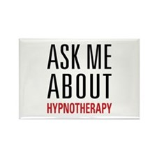 Hypnotherapy - Ask Me A Rectangle Magnet (10 pack)