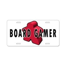 Board Game Meeple Red Aluminum License Plate