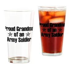Proud Army Grandma Drinking Glass